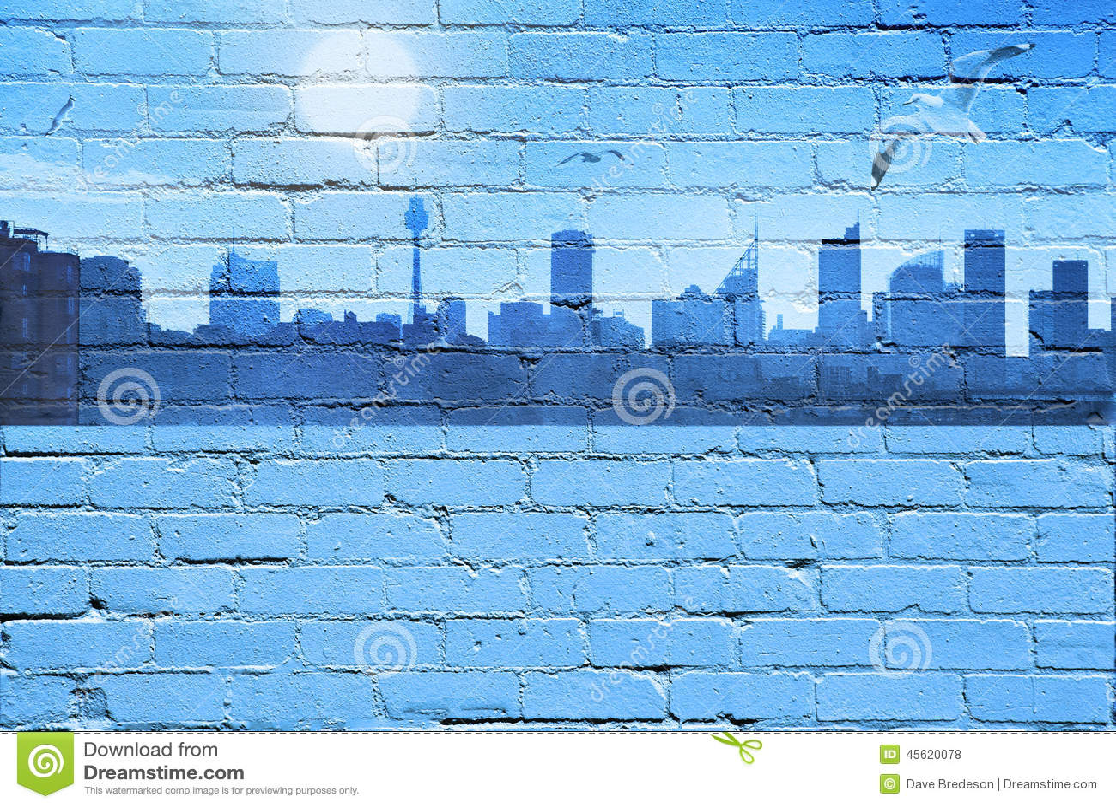 City Skyline Background Stock Photo Image 45620078