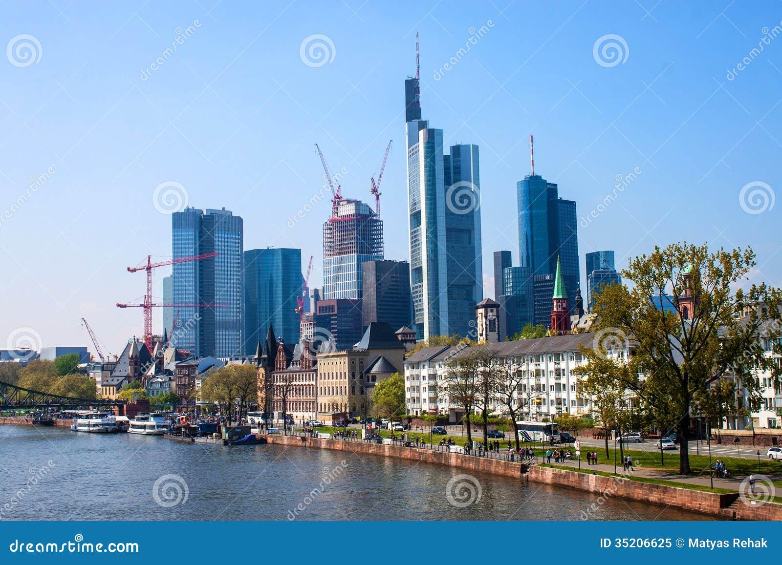 City Skyline In Frankfurt Germany Editorial Image Image 35206625