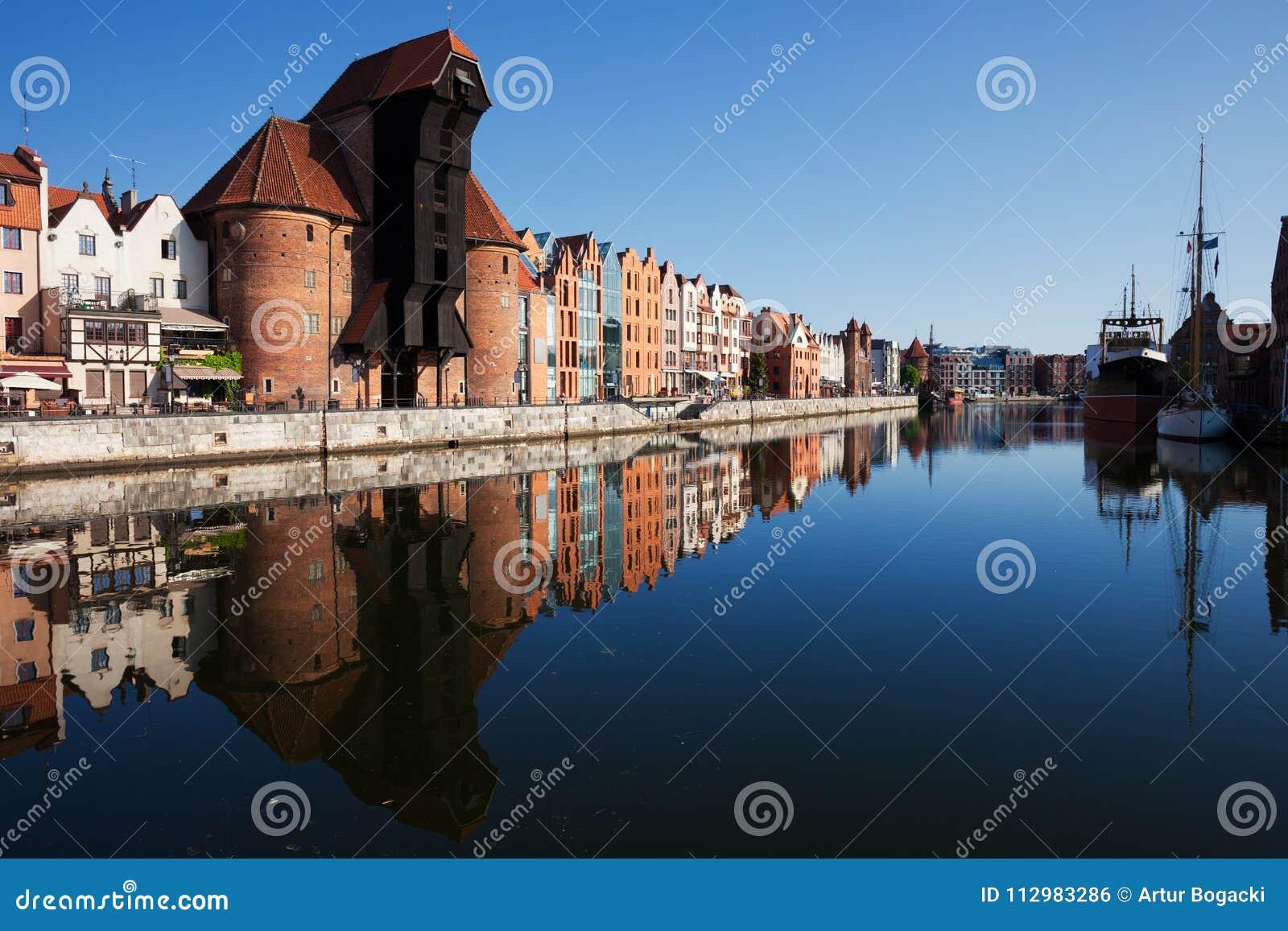 City Skyline Of Gdansk River View