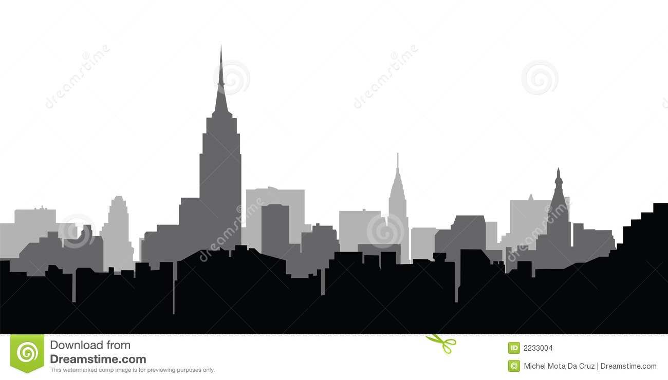 City Skyline New York Vector Editorial Stock Image - Image: 2233004