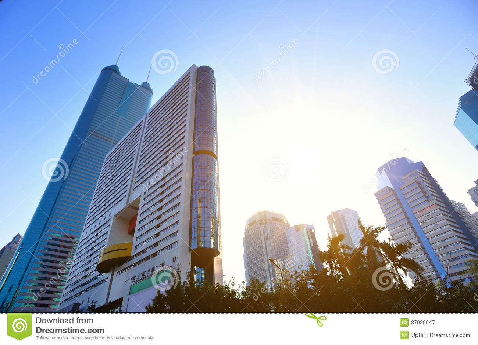 City skyline in shenzhen city