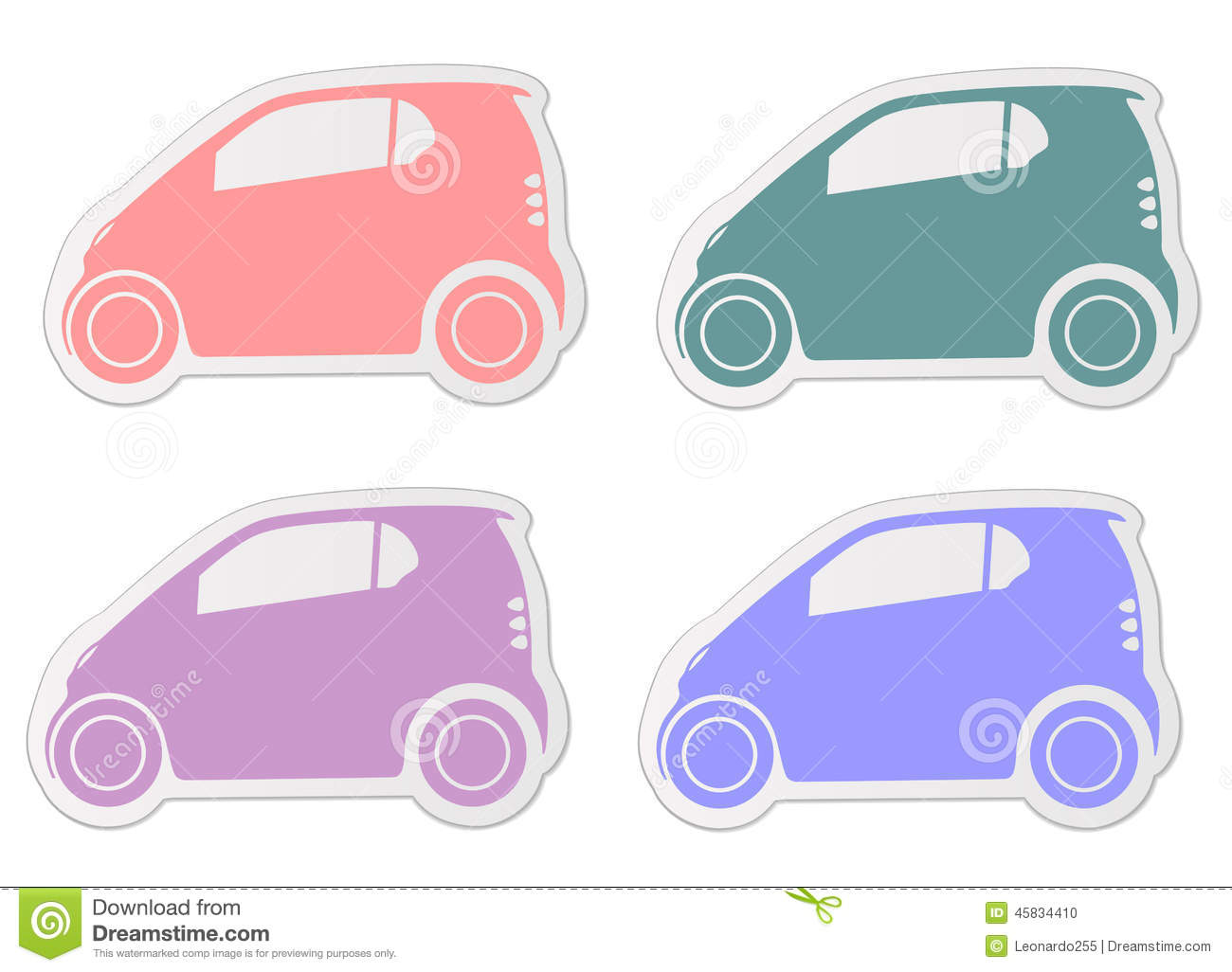 Smart car sticker designs - City Smart Car Sticker