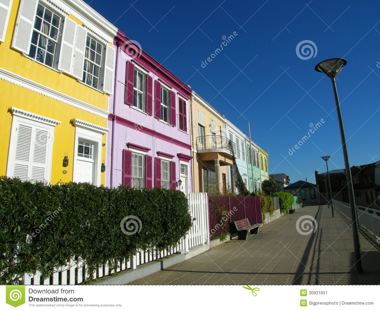City Street Town Houses Urban Stock Image Image Of House