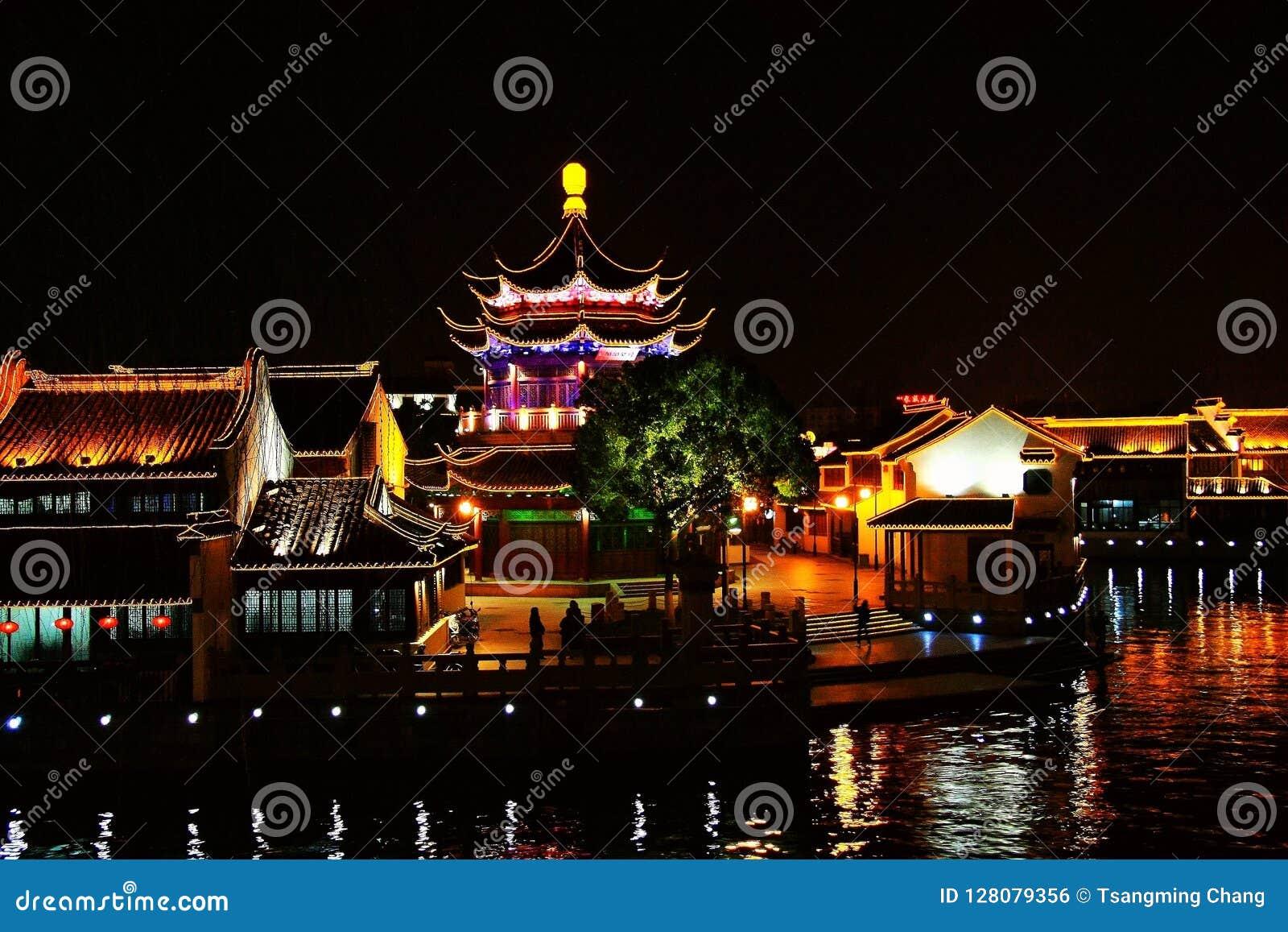 The Night scene in Suzhou city