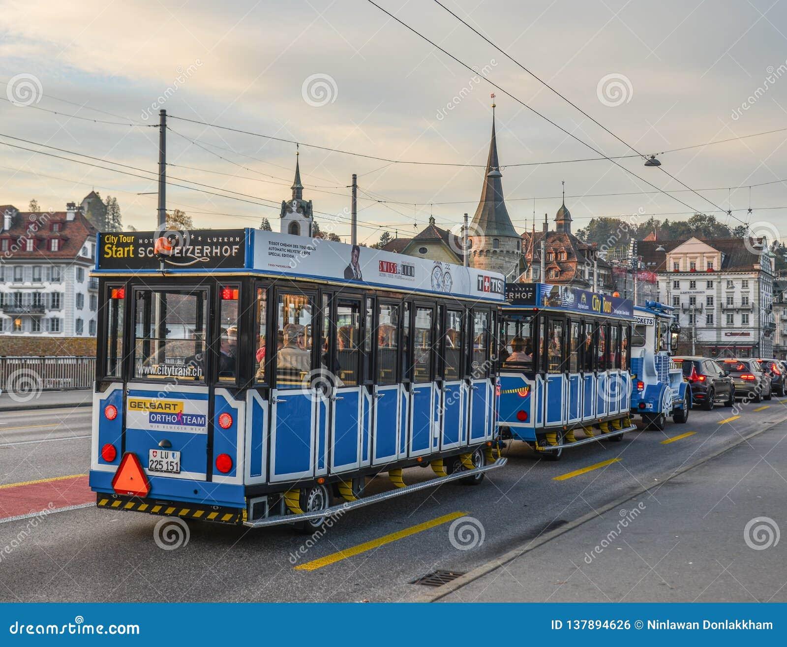 City Tour train in Lucerne, Switzerland
