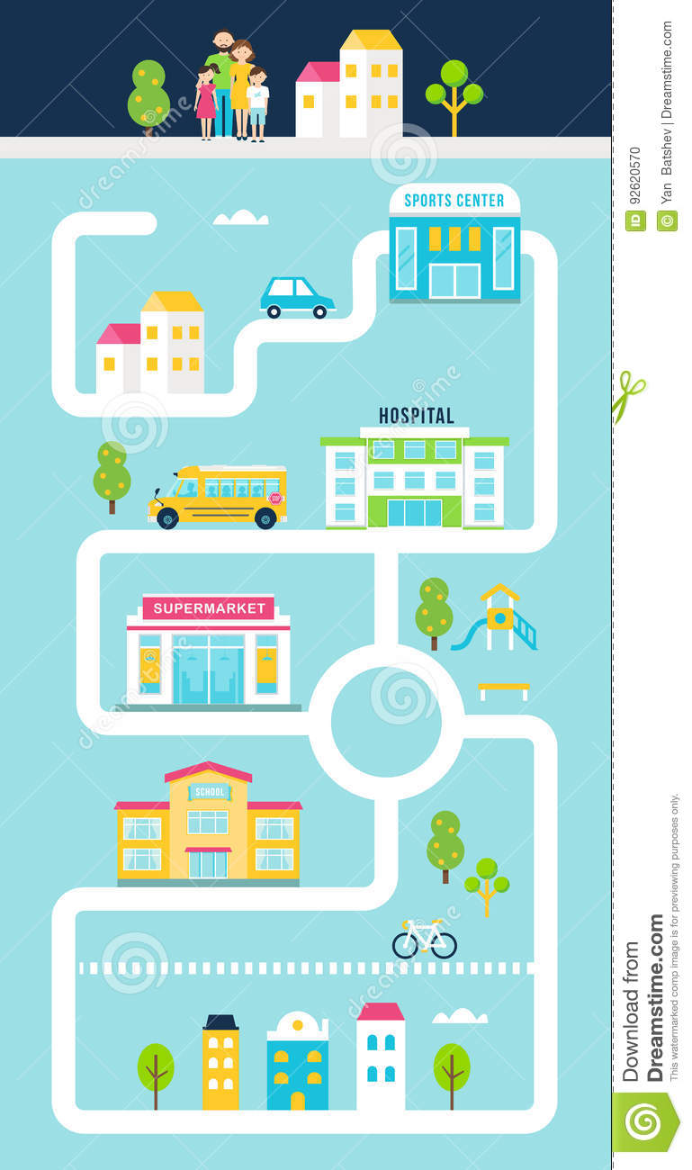 City Or Town Facilities Infographics Road Map Style Template Stock Illustration Map Town on map print, map of louisiana and mississippi, map of spanish speaking world, map clipart, map making, map art, map of the south sewanee university, map infographic, map background, map design, map great britain, map of california and mexico, map key, map paper, map cartoon, map of belfast and surrounding areas, map of victoria, map books, map app, map travel,