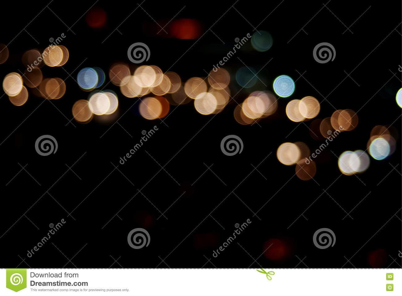 Download City And Traffic Light Bokeh Abstract Blur Background View From Stock Photo