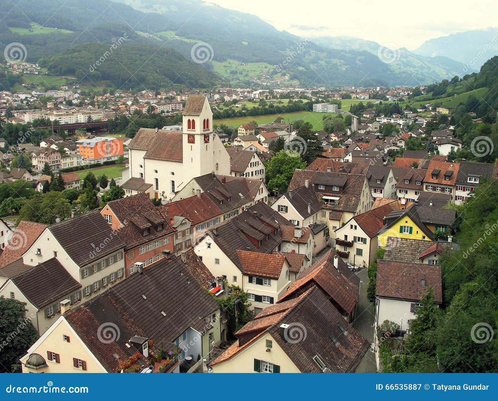 City Vaduz, Principality of Liechtenstein.