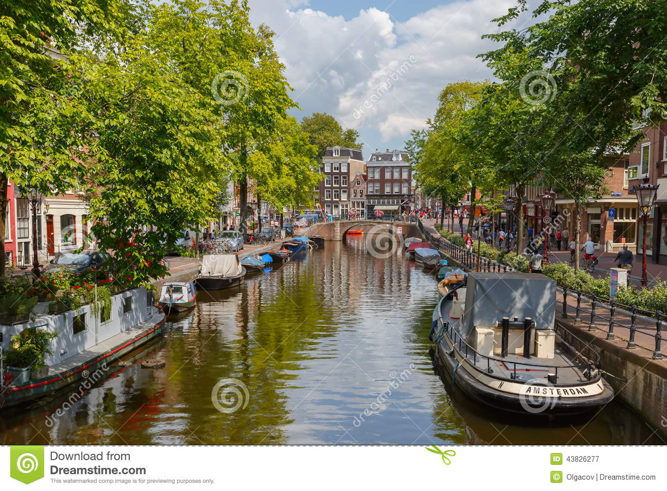 Unique European House Plans City View Of Amsterdam Canal Holland Netherlands