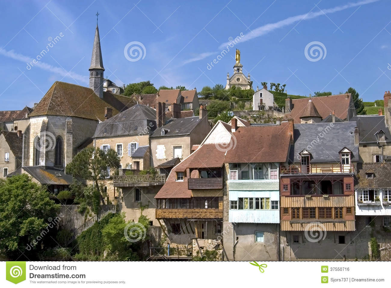 City view of argenton sur creuse france stock photo for Argenton sur creuse piscine