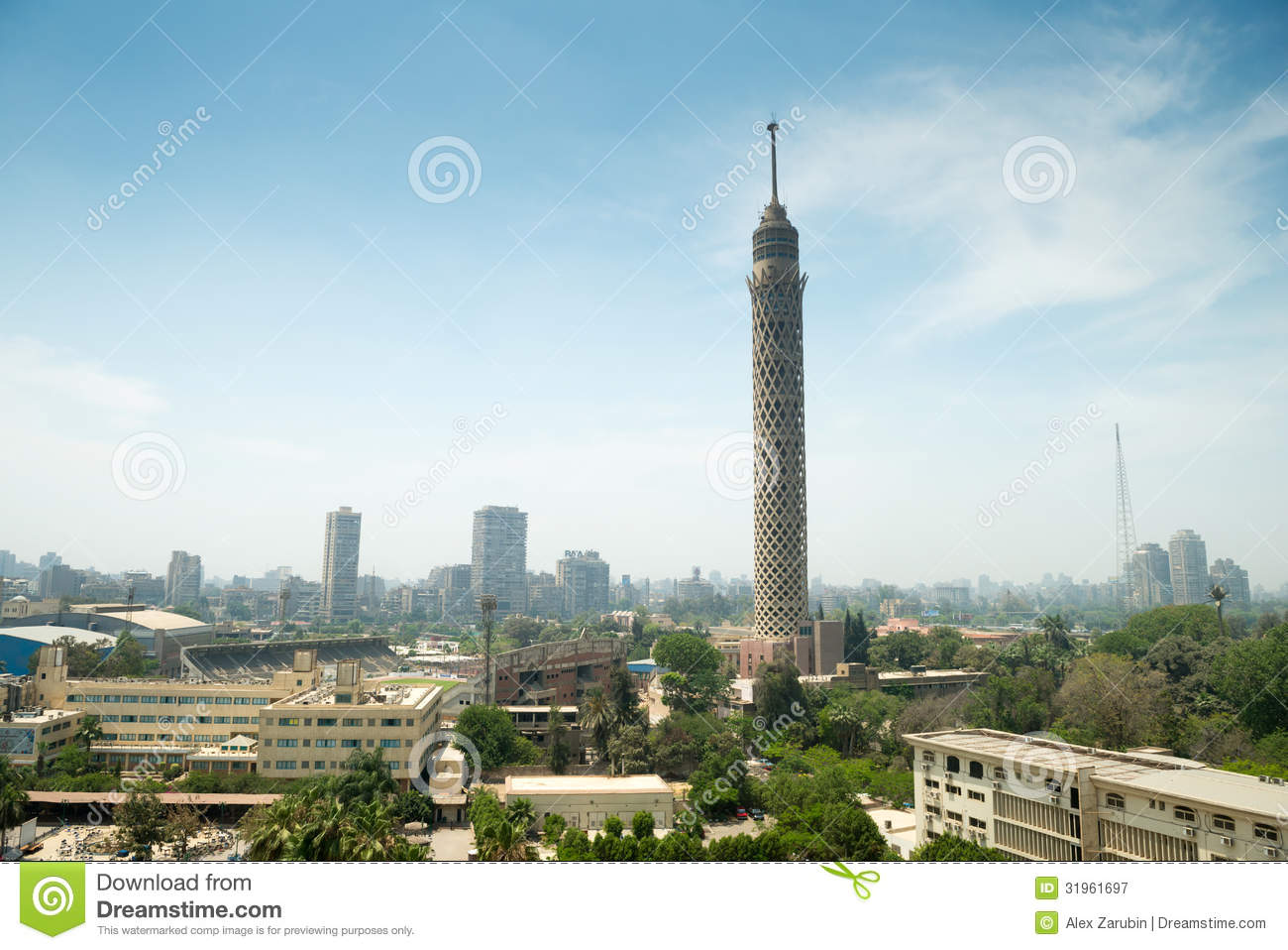 City view of Cairo tower