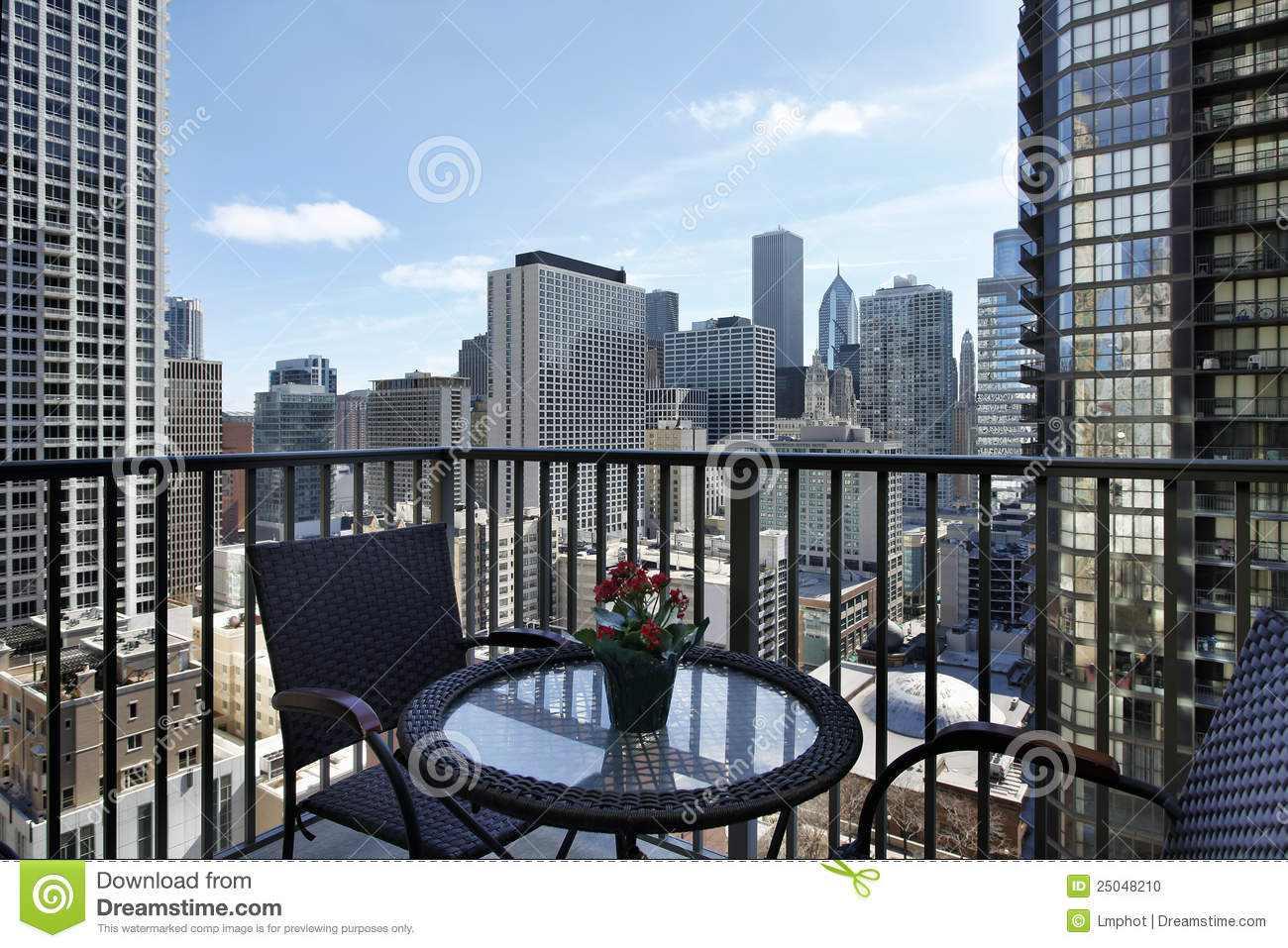 Balcony with a view stock image 21564649 for Balcony with view