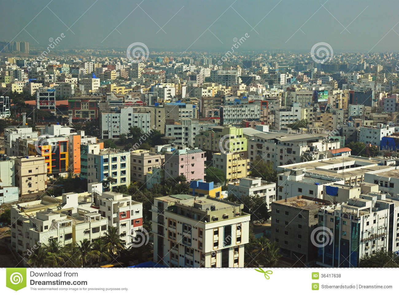 city view of hyderabad editorial stock photo image 36417638. Black Bedroom Furniture Sets. Home Design Ideas