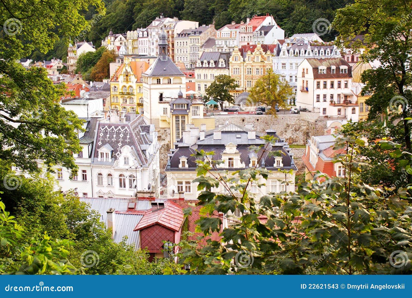 City view of Karlovy Vary