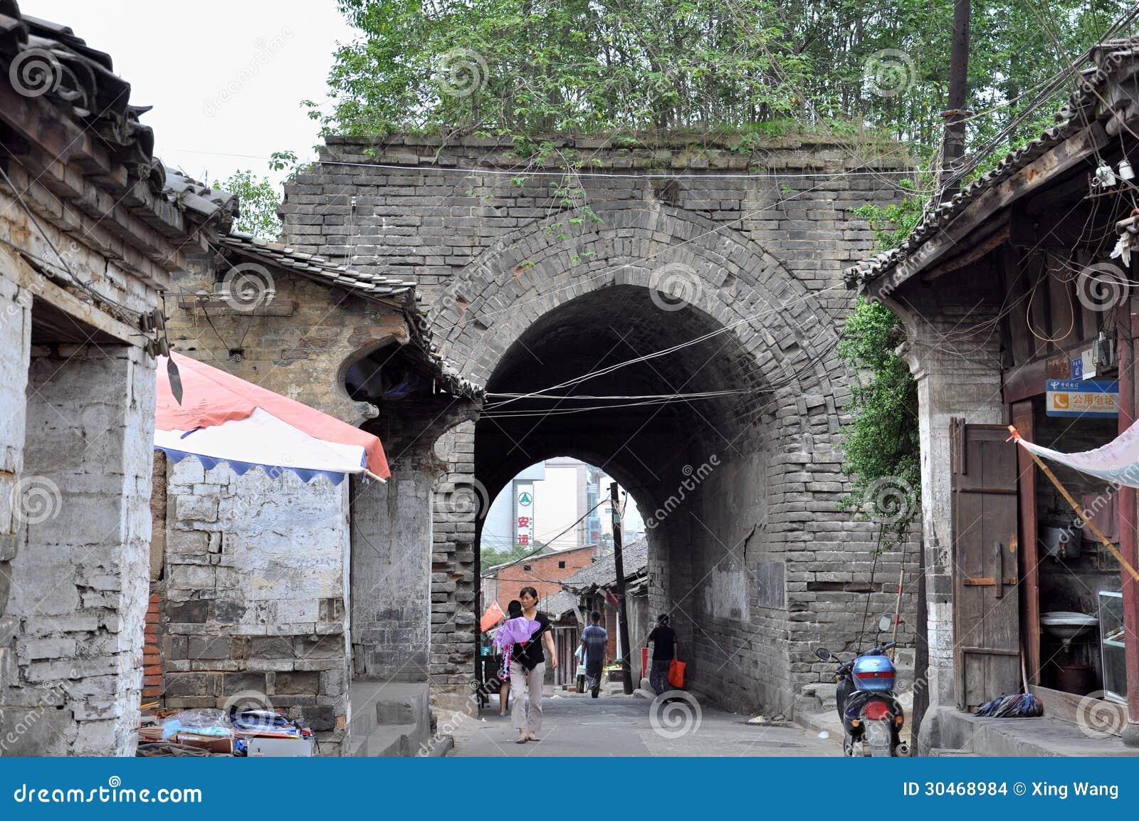 City Wall Of Ankang Editorial Stock Image Image 30468984