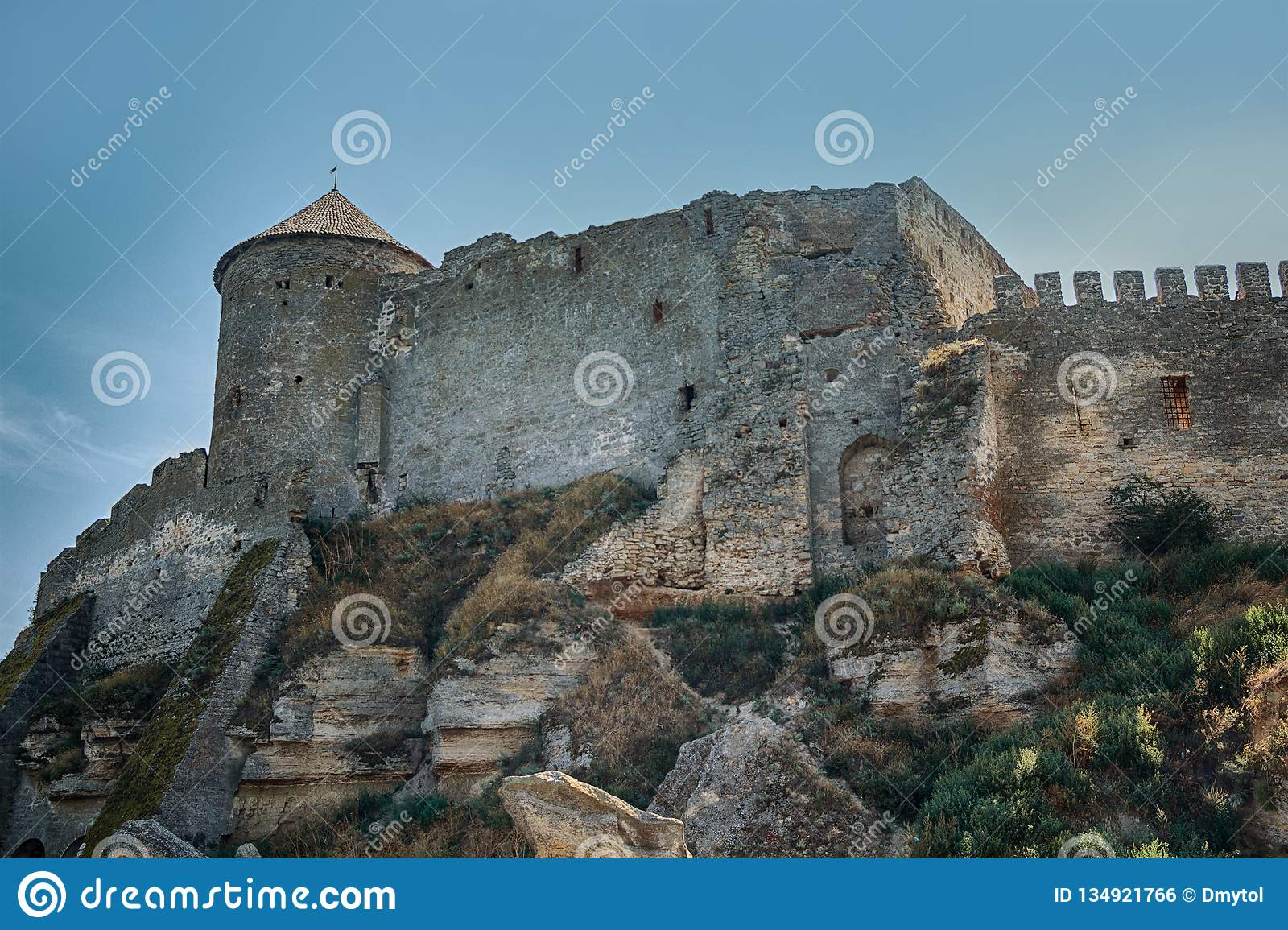 City walls and towers of the old fortress