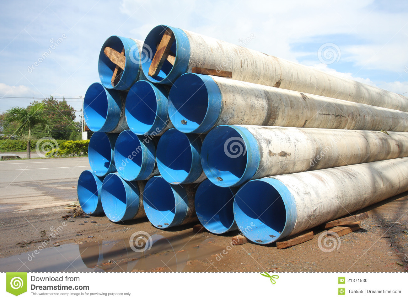 City Water Supply Pipes Stock Photo - Image: 21371530