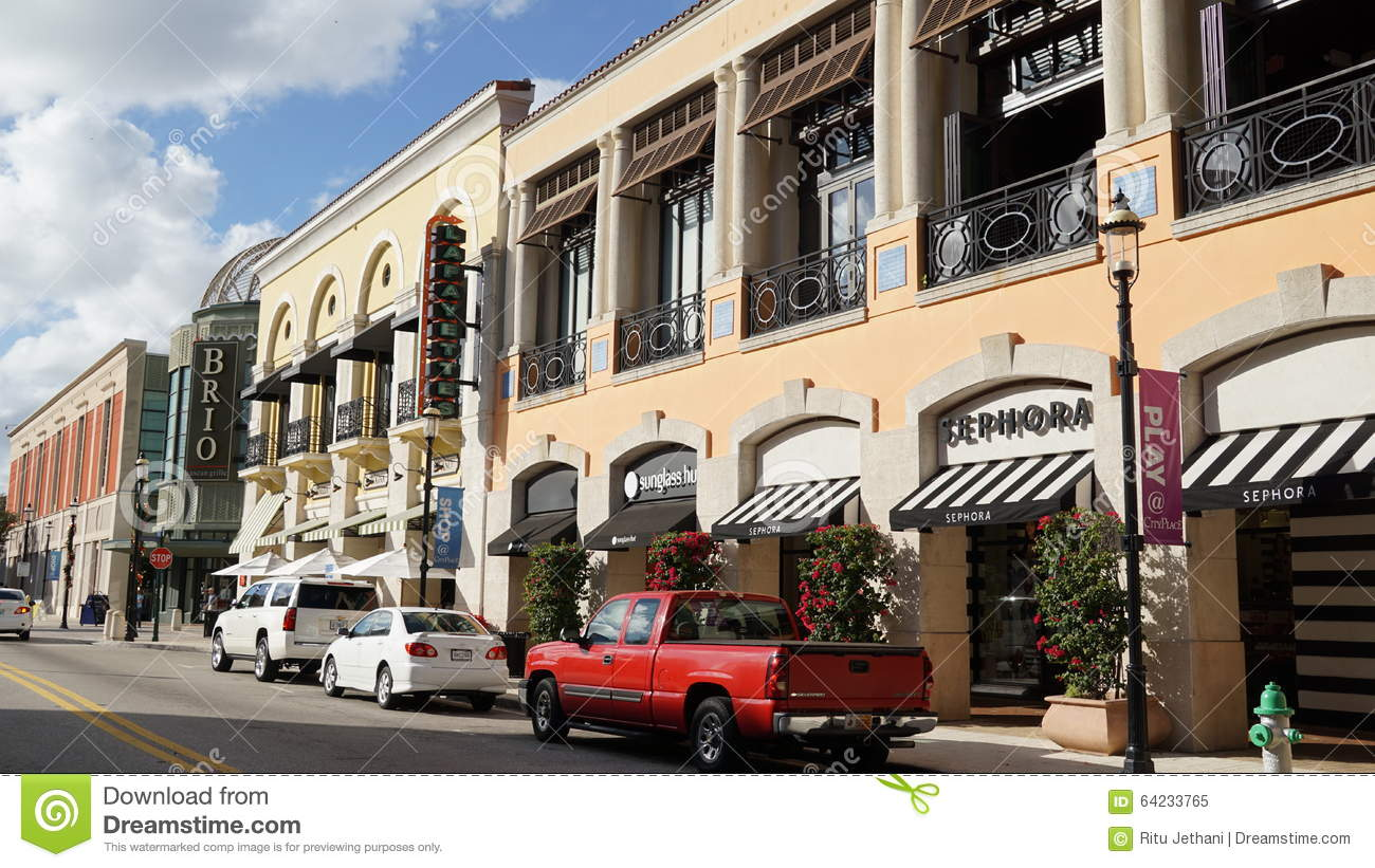 CityPlace In West Palm Beach, Florida Editorial Image