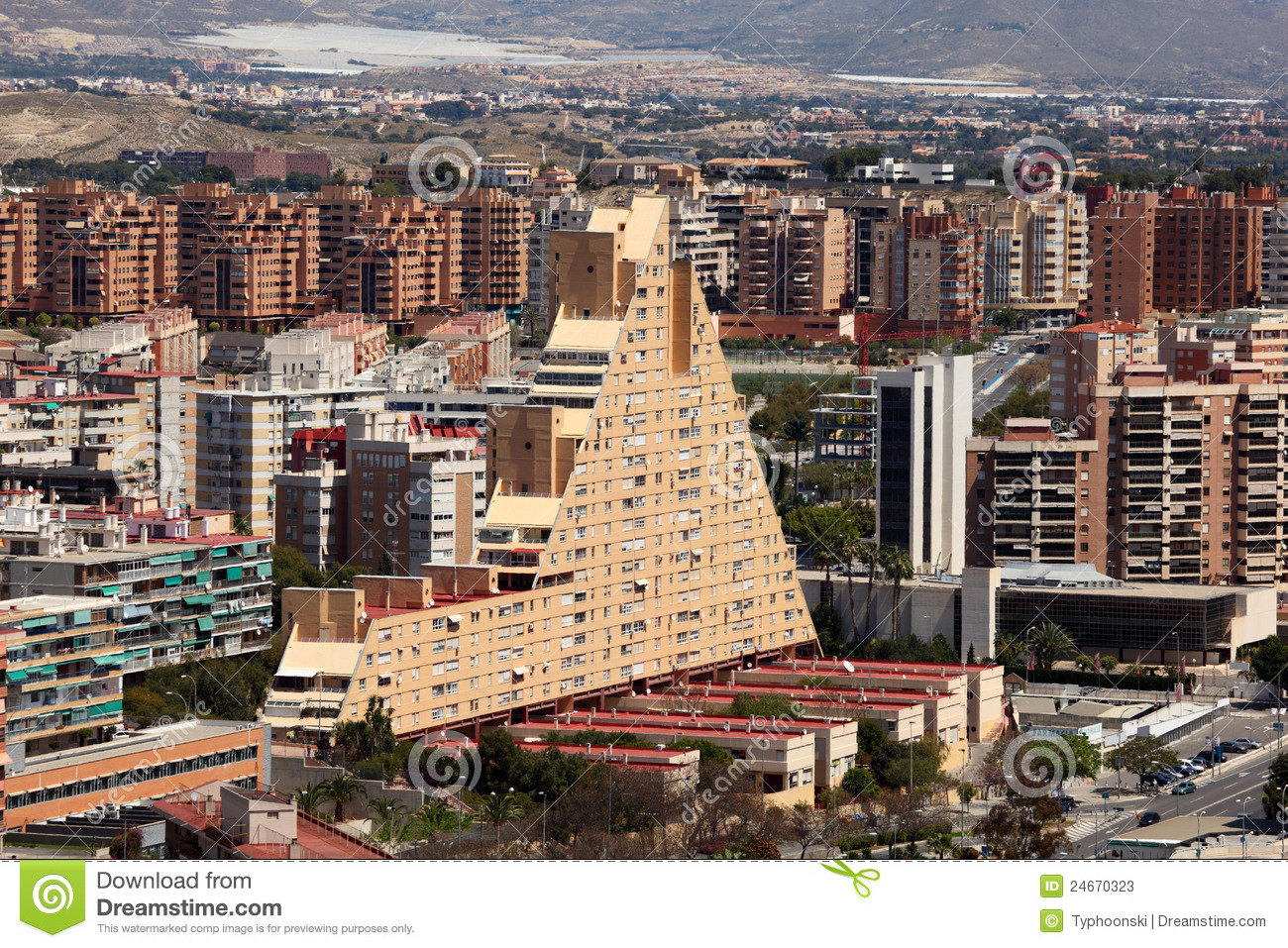 Cityscape of alicante spain stock image image 24670323 - Stock uno alicante ...
