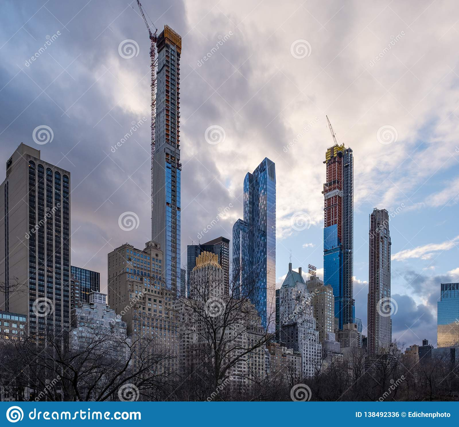 Central Park Apartments New York: Cityscape Of Apartment And Office Buildings View From
