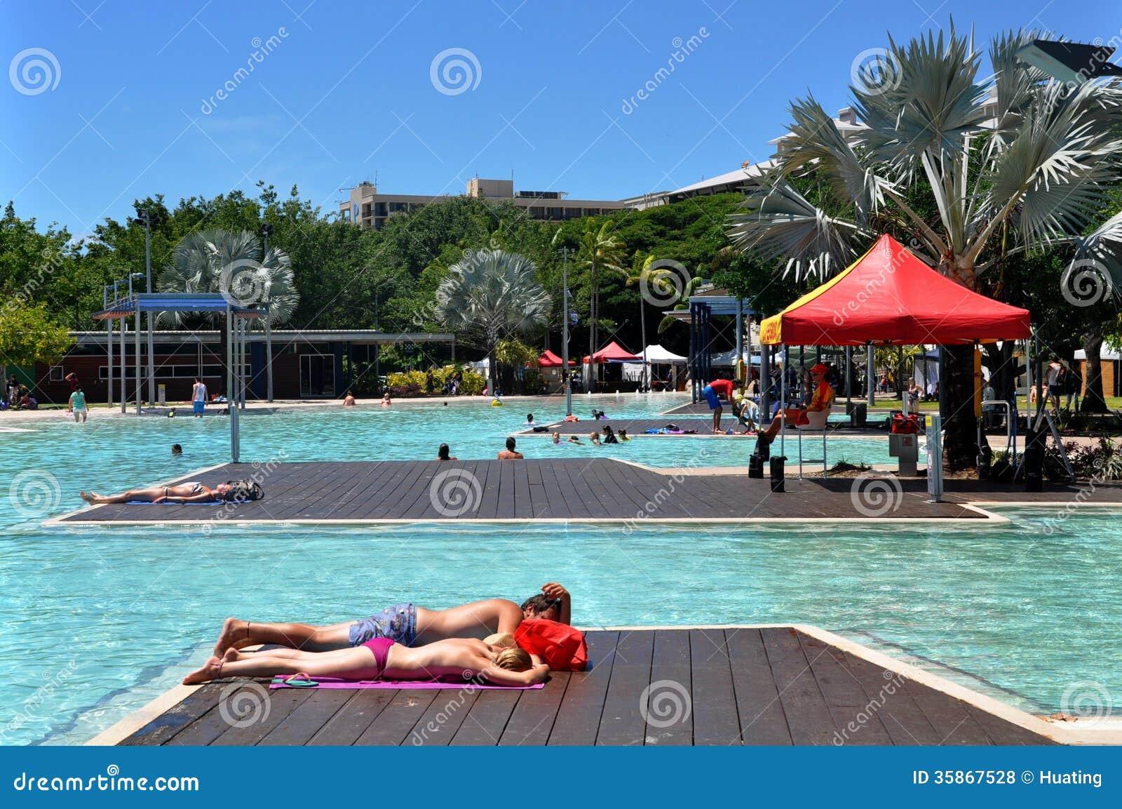 Cityscape Of Australia Swimming Pool Editorial Stock