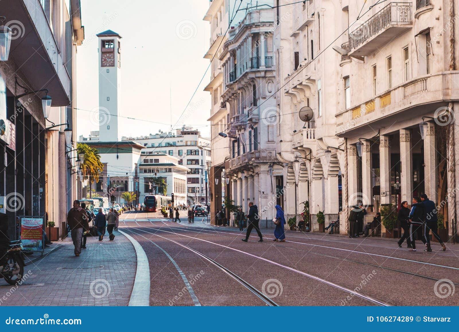 Cityscape av Casablanca - Marocko