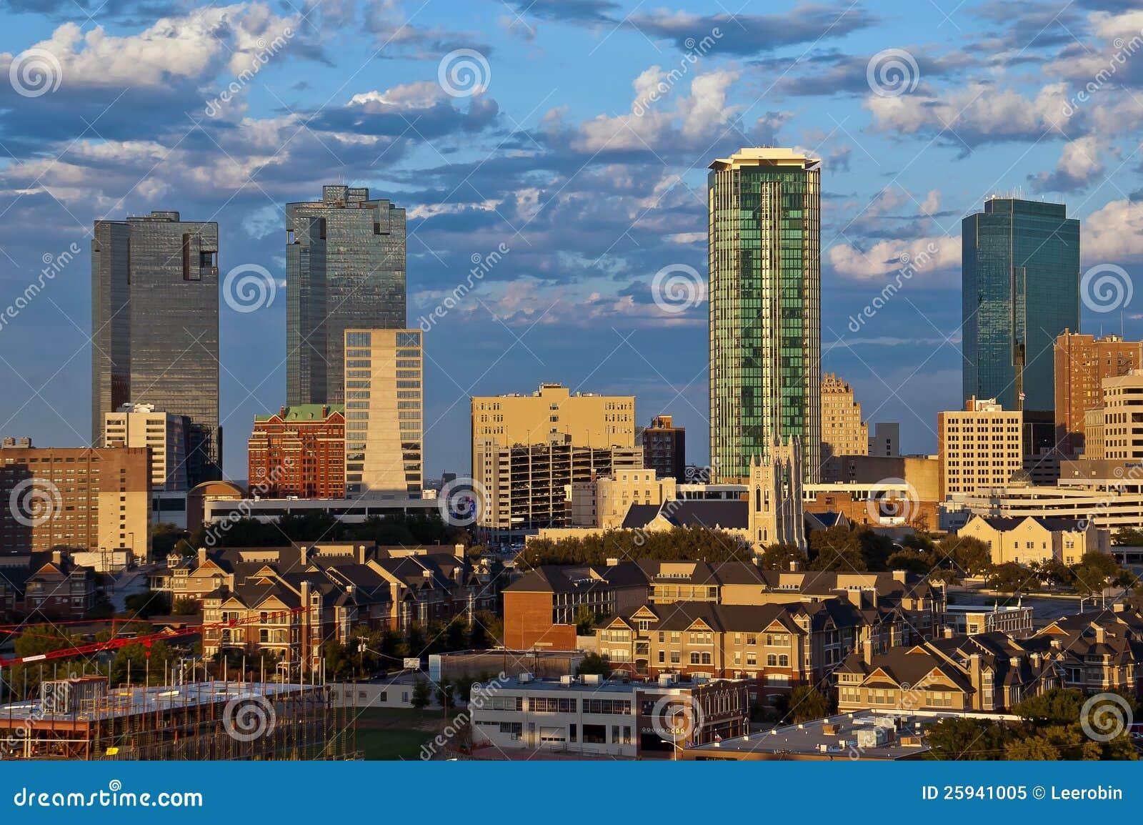 Cityscape av Fort Worth Texas