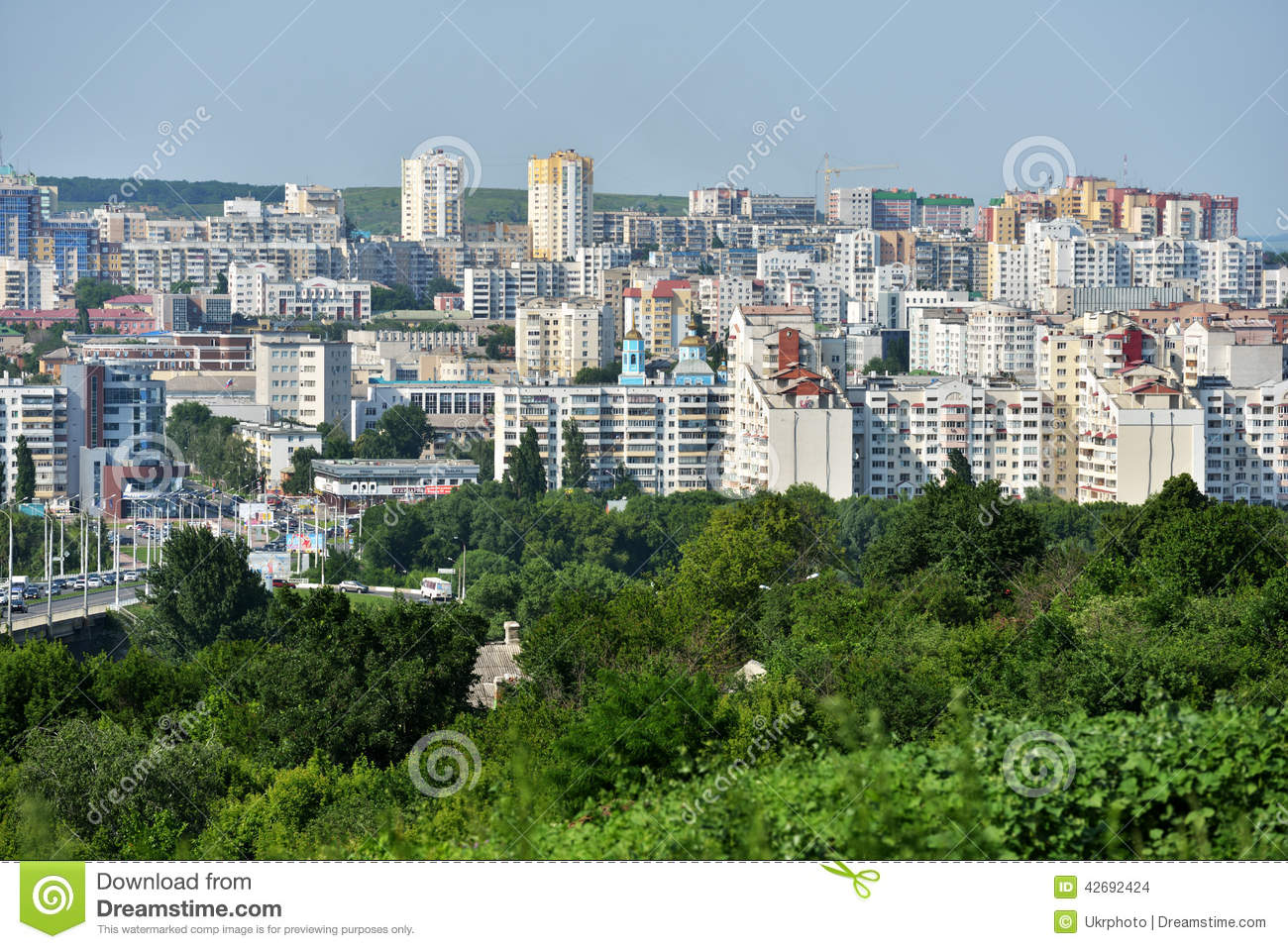 Belgorod Russia  City pictures : Belgorod, Russia June 6, 2014: Aerial view to the city center. In ...