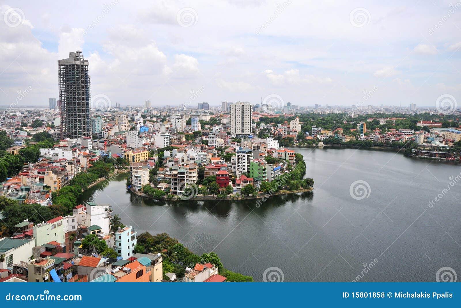 Cityscape hanoi vietnam