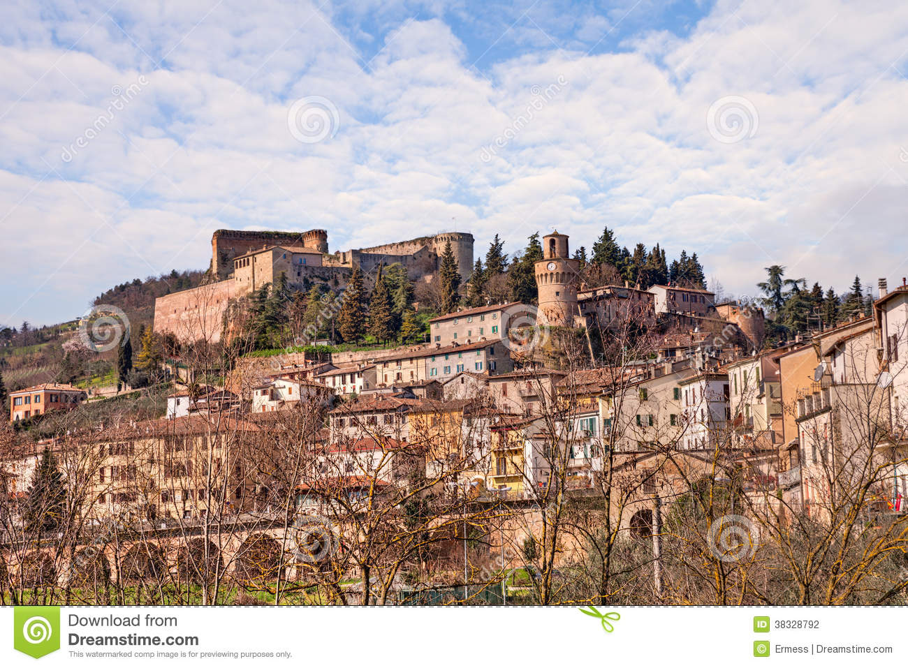 Castrocaro Terme Italy  city photos : Cityscape Of The Little Town Castrocaro Terme, Italy Stock Photography ...