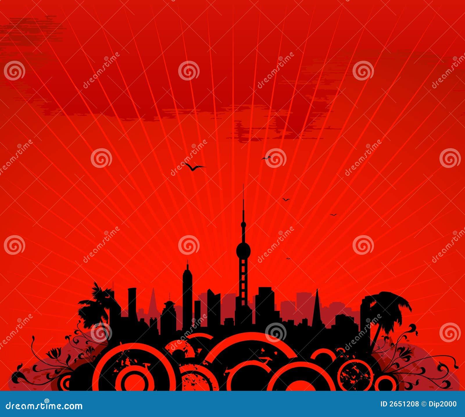 Cityscape met toren