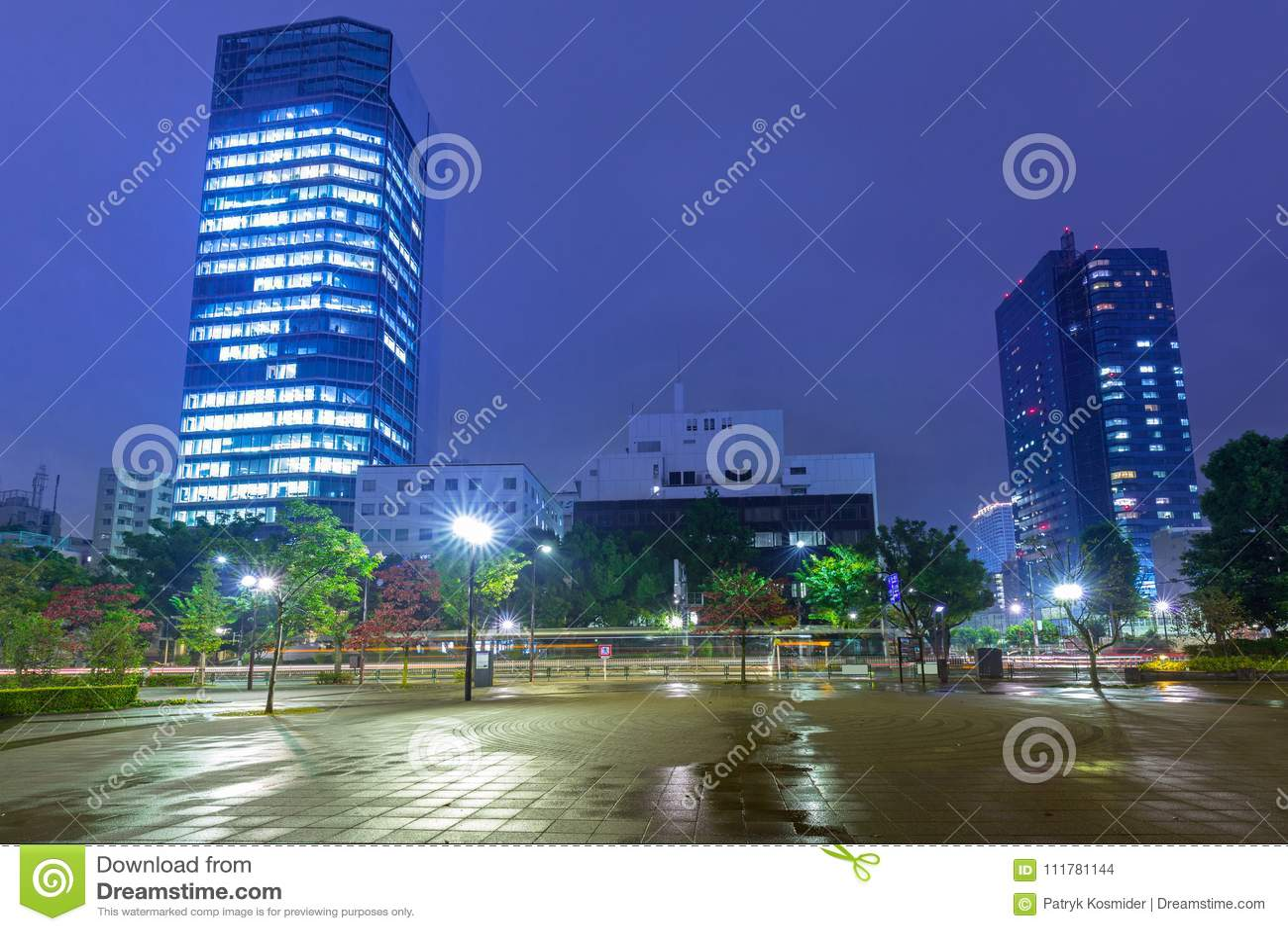 Cityscape of Minato district of Tokyo