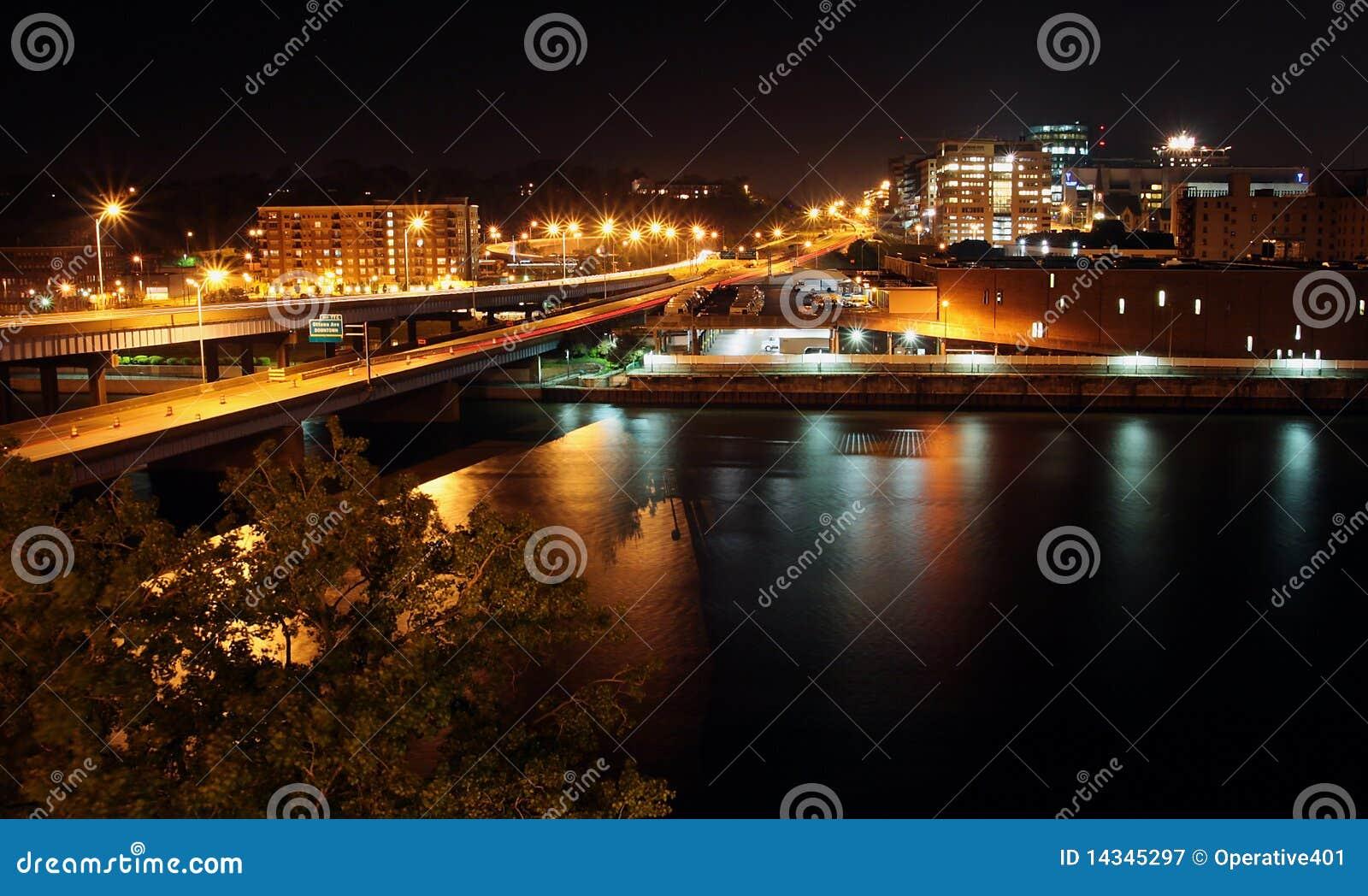 Cityscape photo of Grand Rapids, MI. Royalty-Free Stock Photo