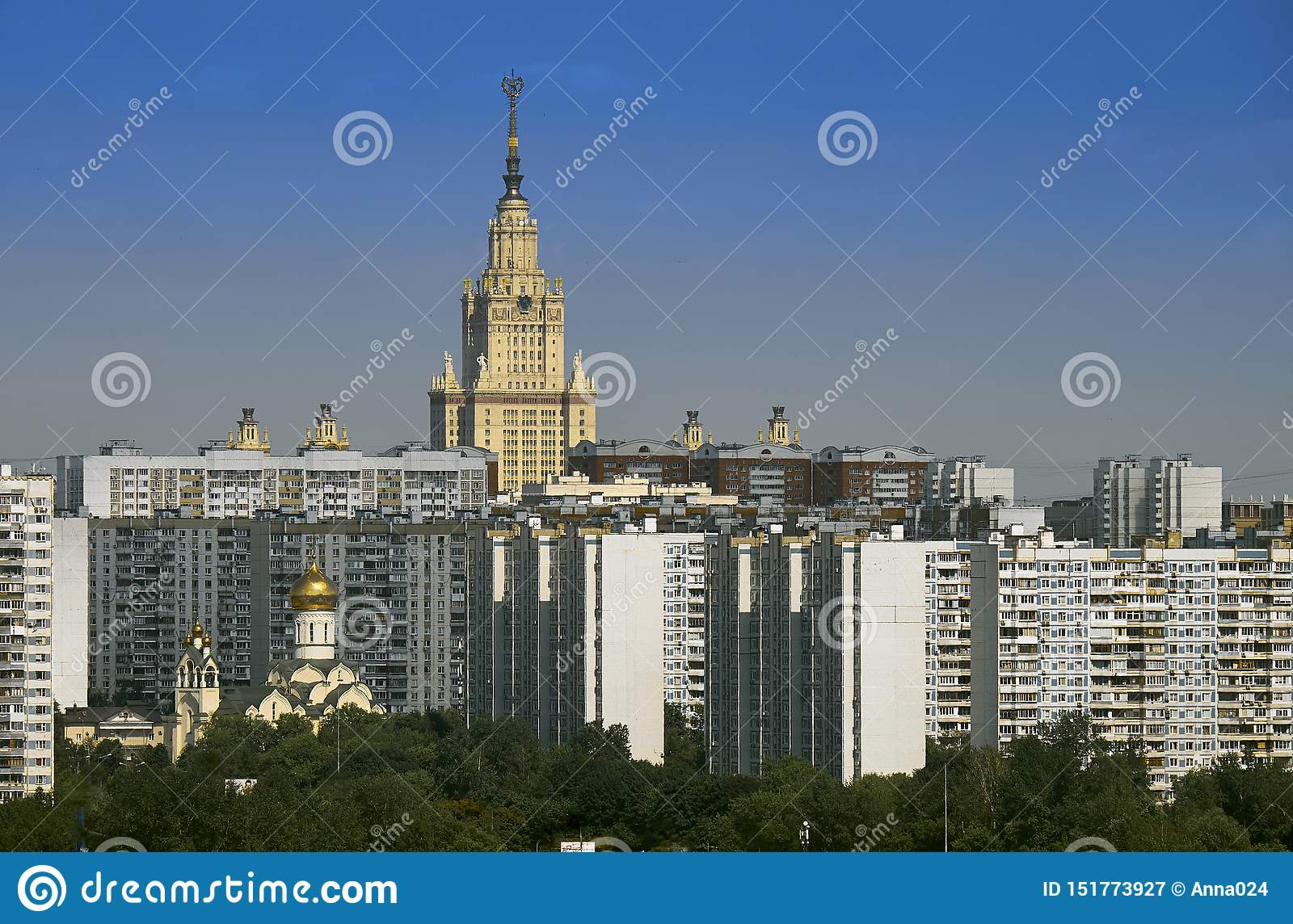 Cityscape in Ramenki district of Moscow.