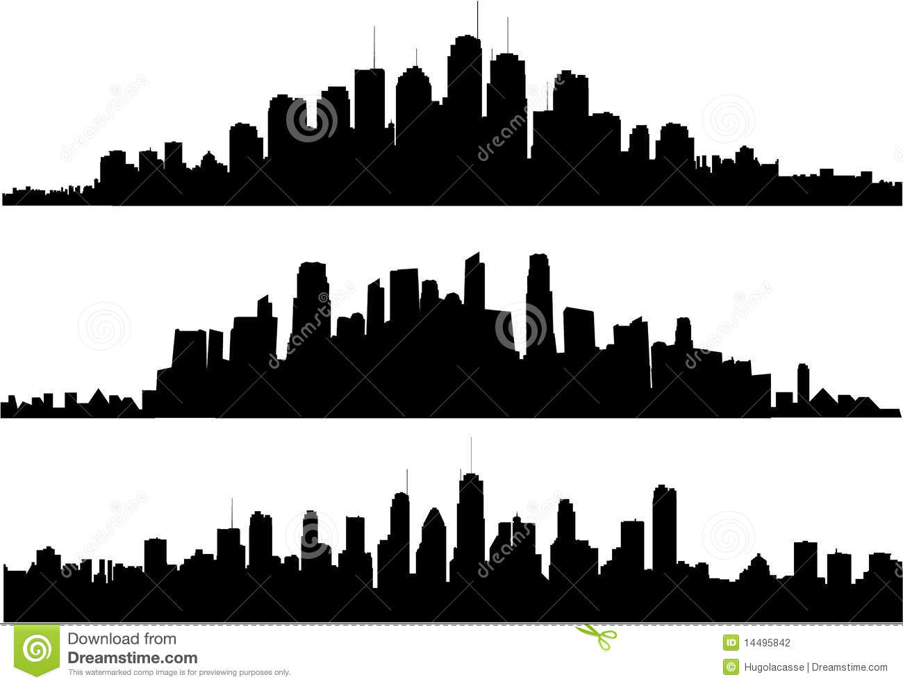 Cityscape silhouette stock vector image of illustration for Paysage de ville