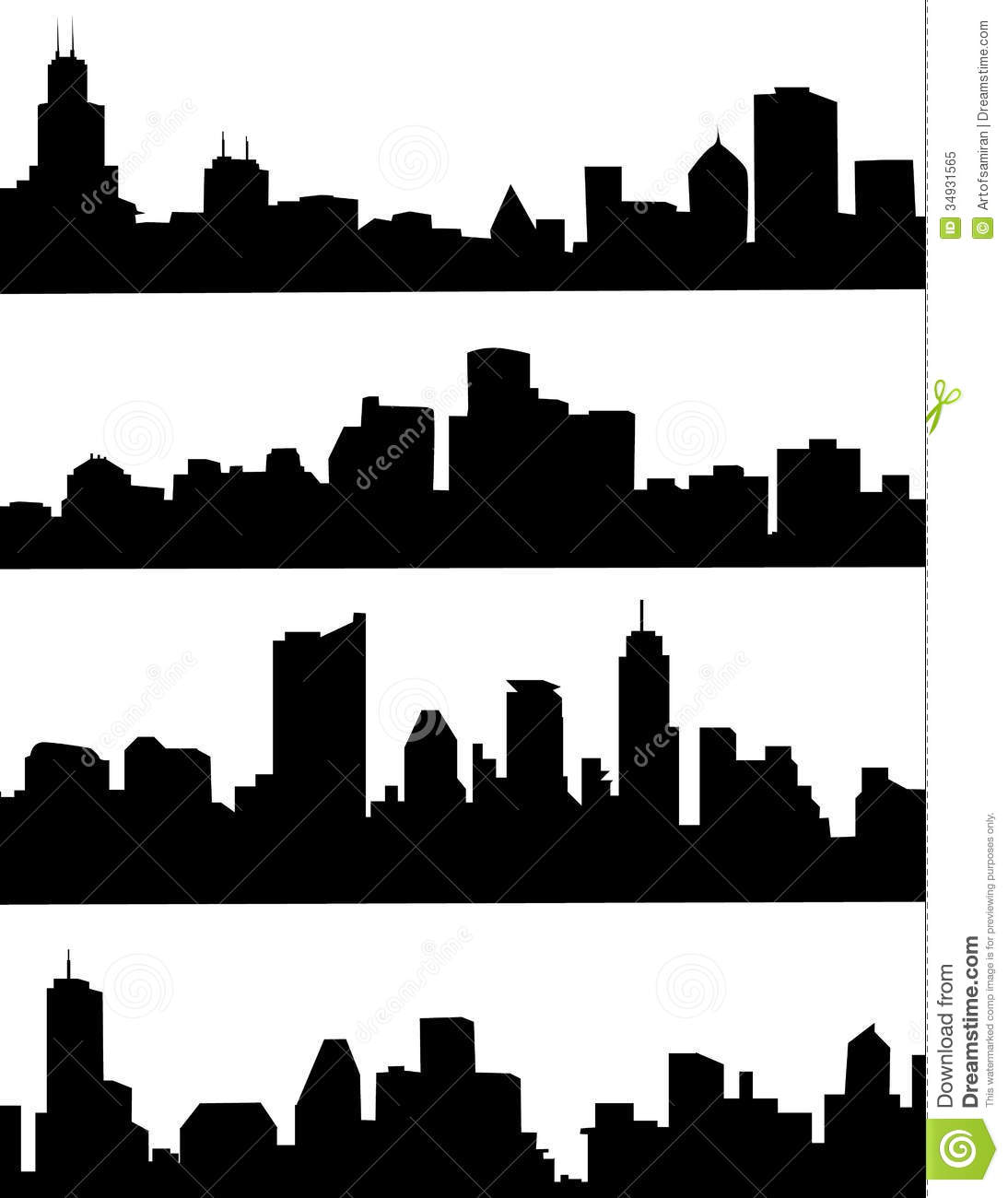 Cityscape Silhouette Stock Vector. Illustration Of City