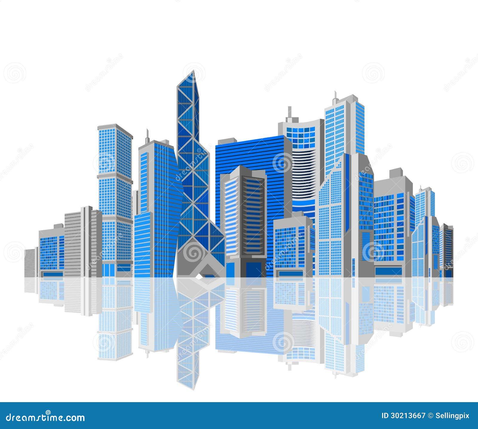 Cartoon City Building With No Background