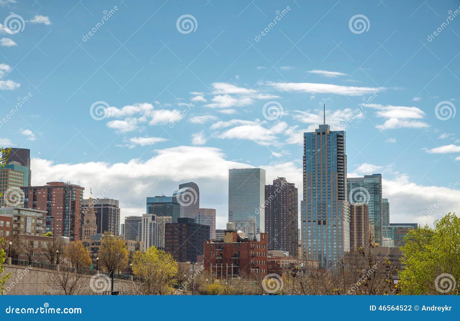 Cityscape van de binnenstad van Denver