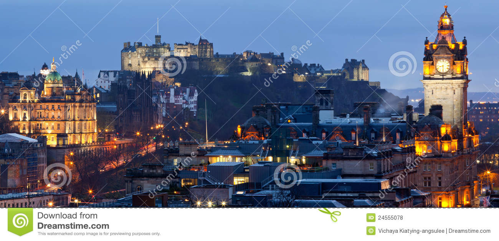 Cityscape van Edinburgh Panorama