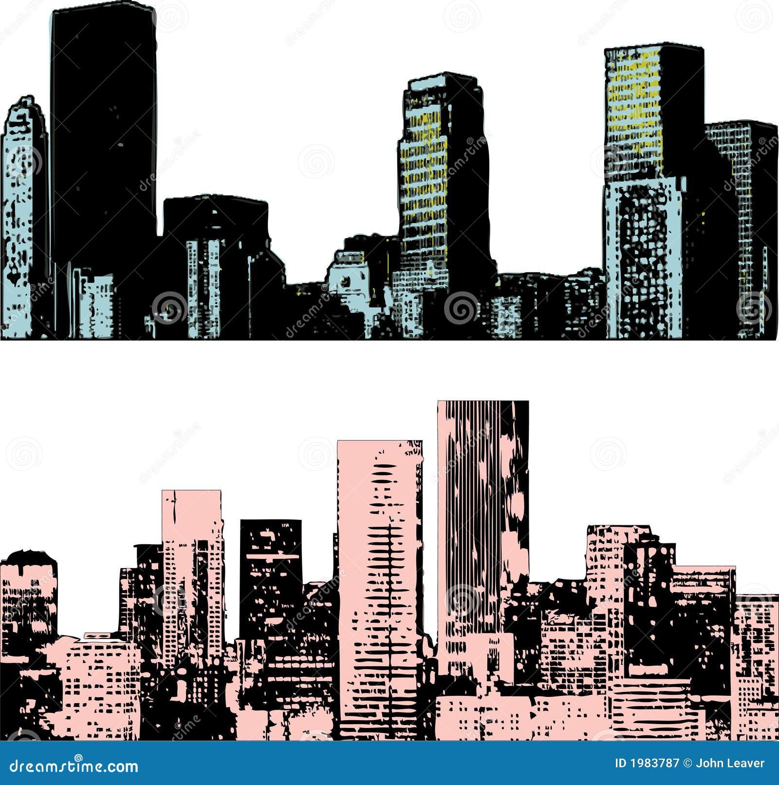 Cityscape van Grunge