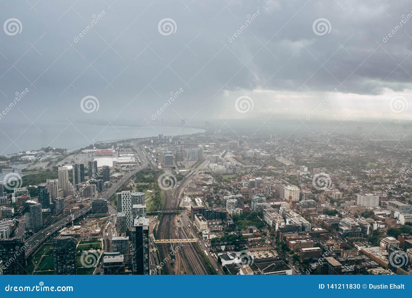 Cityscape van Toronto van de CN toren