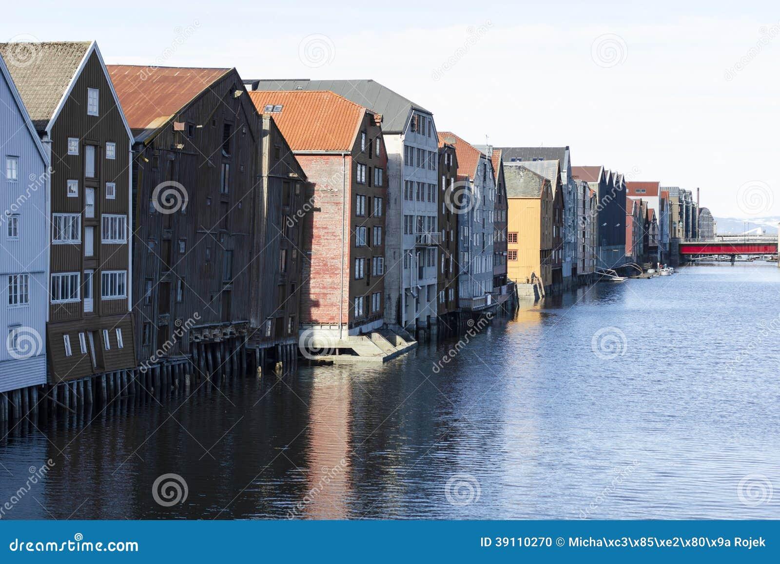 Cityscape van Trondheim, Noorwegen