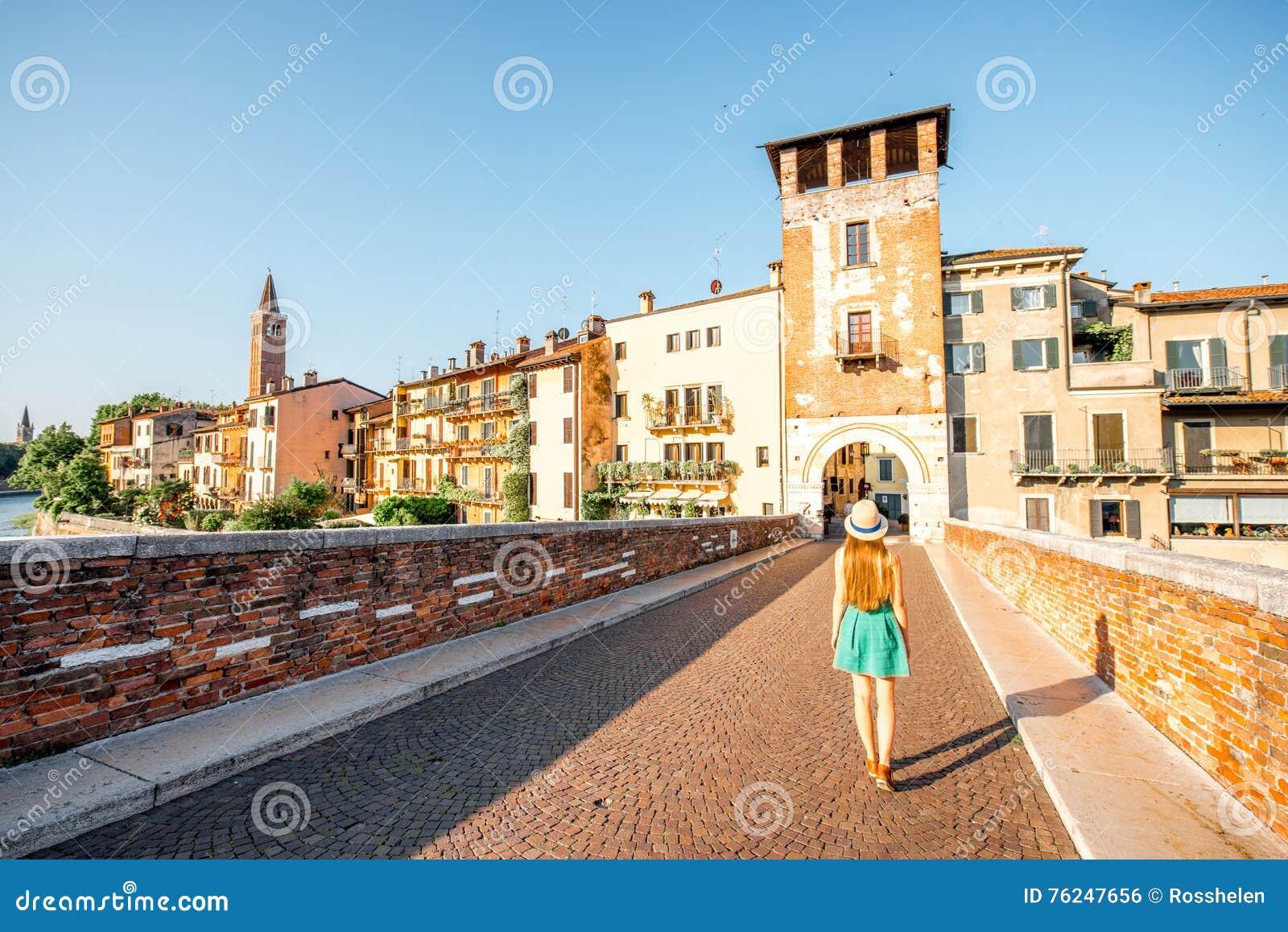 Cityscape van Verona mening