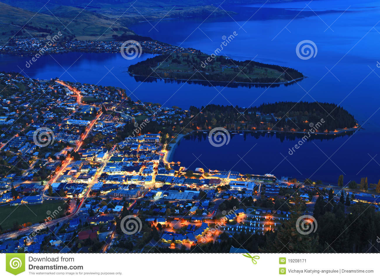 Cityscapeskymning queenstown