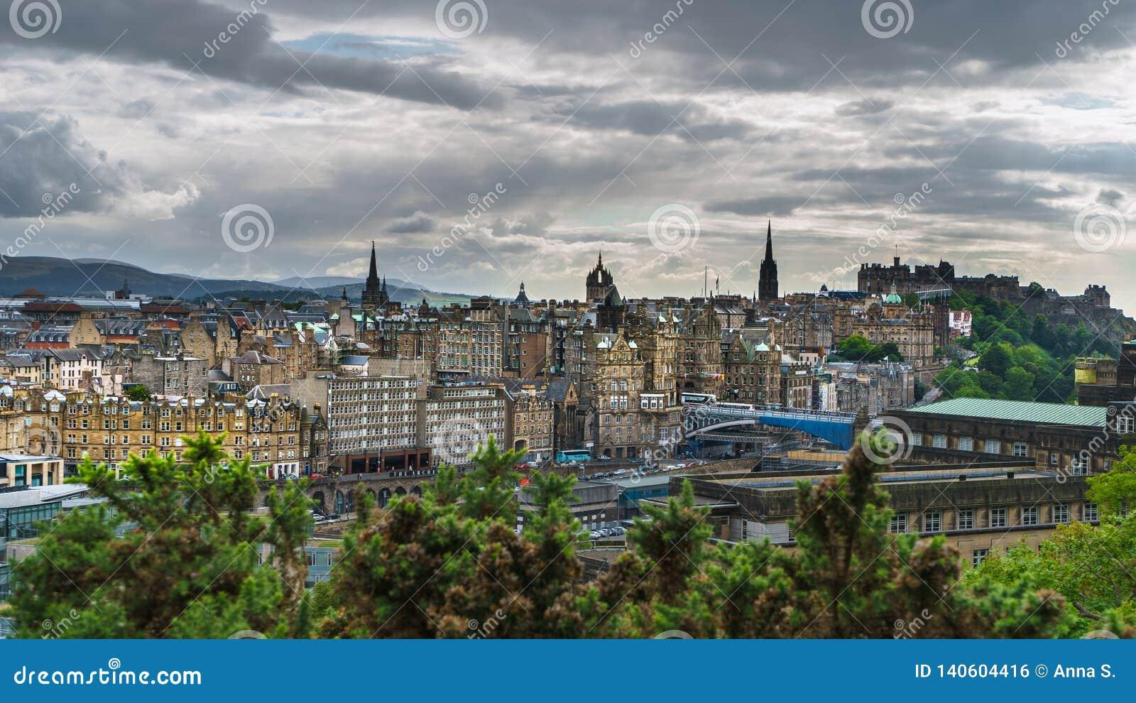 Cityview von Edinburgh