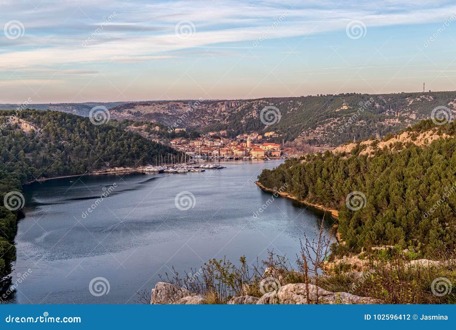 Ciudad Croacia de Skradin