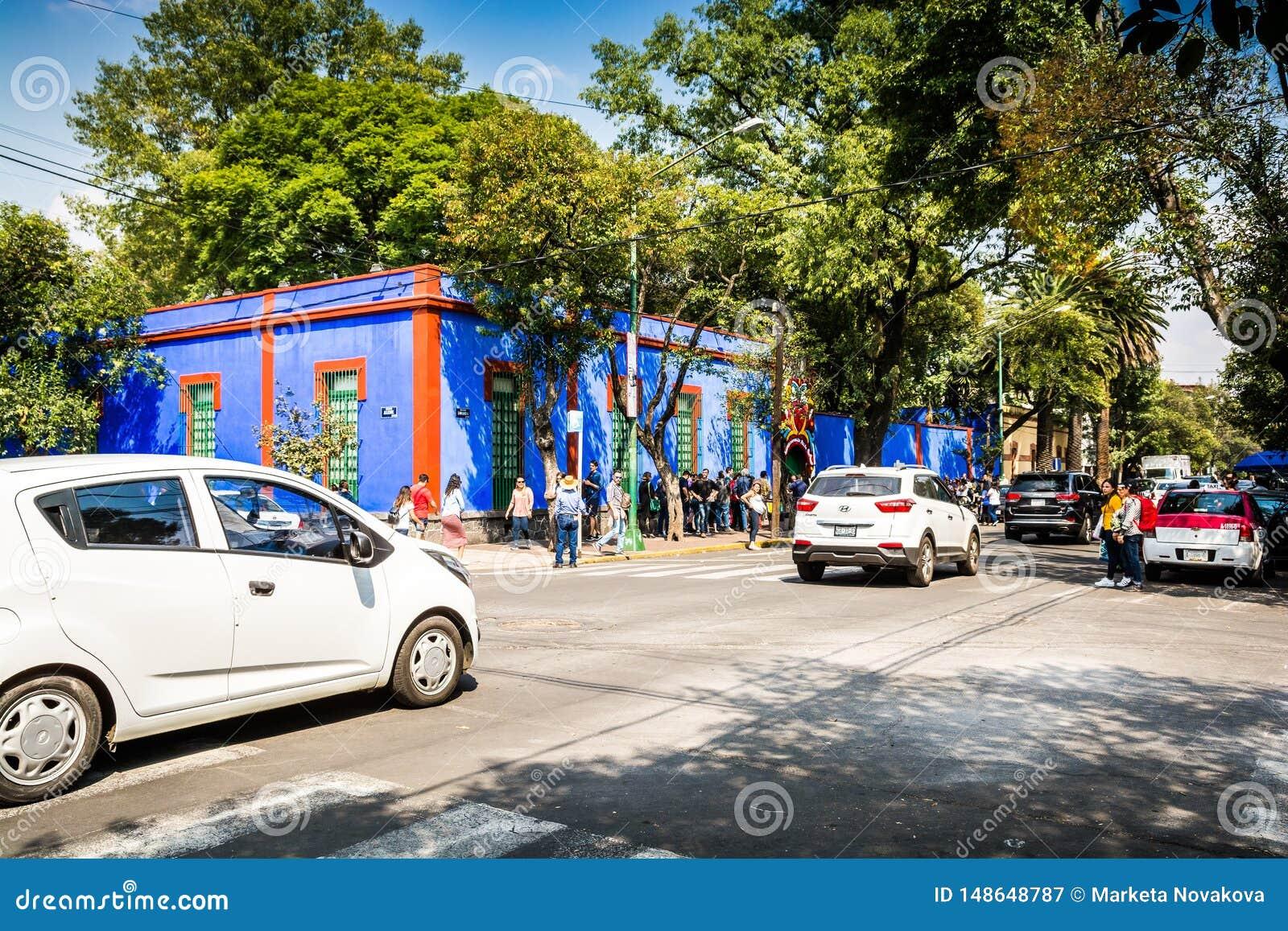 Ciudad de M?xico, M?xico - 26 de octubre de 2018 Frida Kahlo Museum en el cuarto de Coyoacan