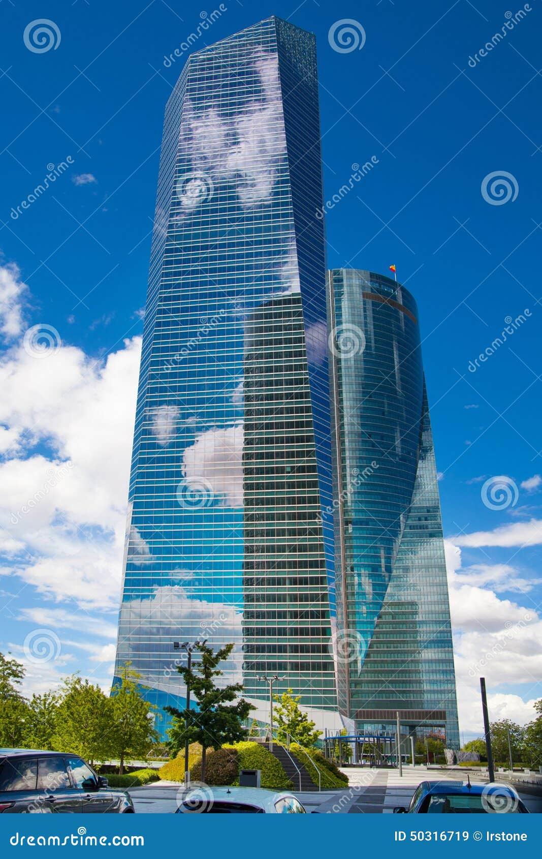 Ciudad De Madrid Centro De Negocio Rascacielos Modernos Imagen De