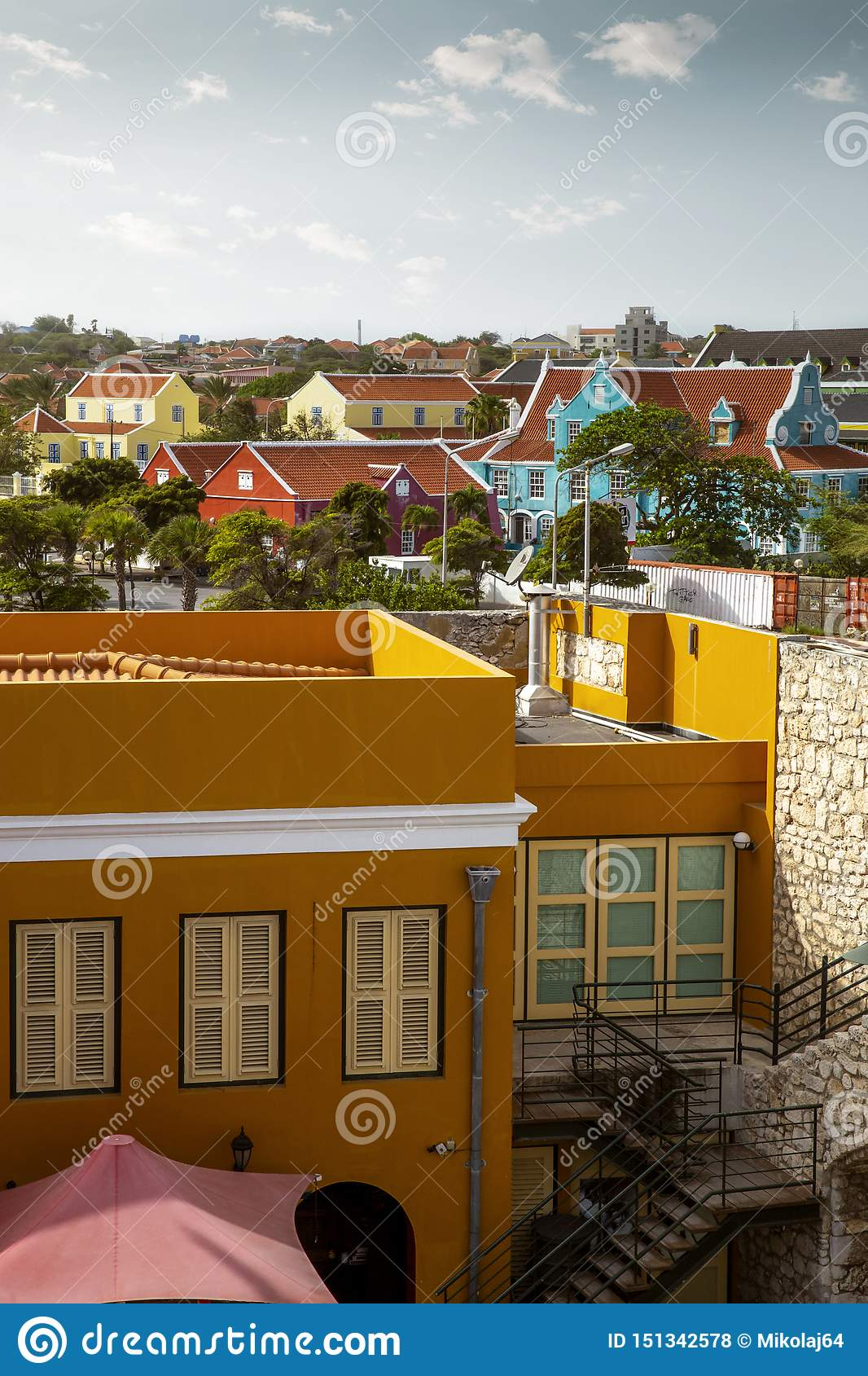 Ciudad de Willemstad en Cura?ao