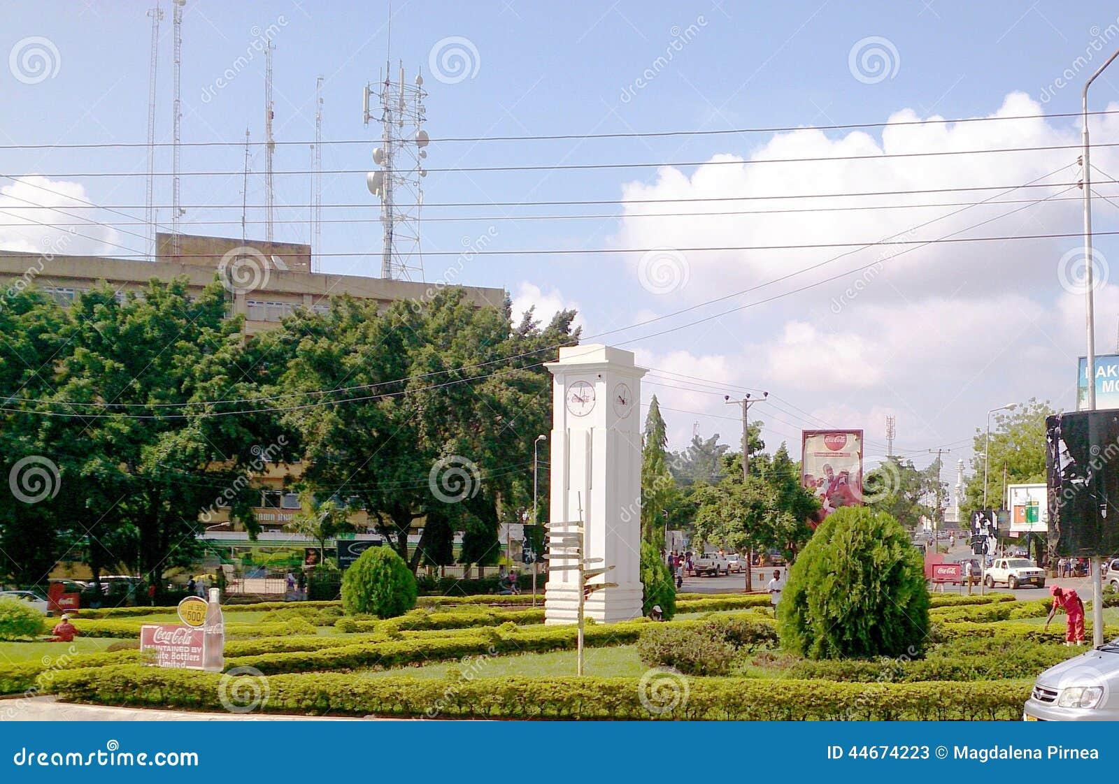 Ciudad del reloj en Arusha